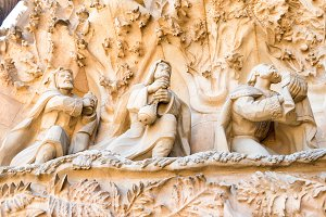 Detail of Sagrada Familia