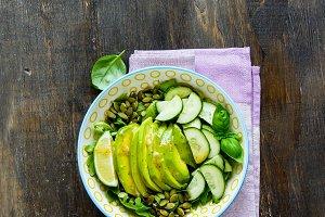 Vegan green salad