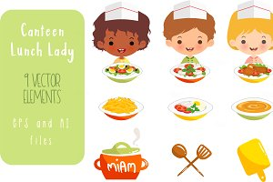 Canteen Lady Lunch Set