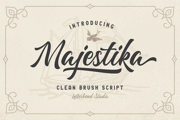 Script Fonts - Majestika - Clean Brush Script