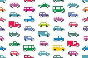 Pattern with Cars and trucks