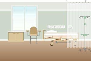 Hospital personal medical ward scene