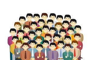 Asian men community concept