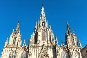 Cathedral de Barcelona in Spain