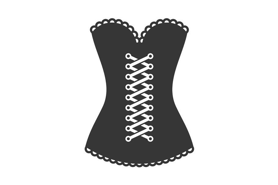Women Black Corset Icon