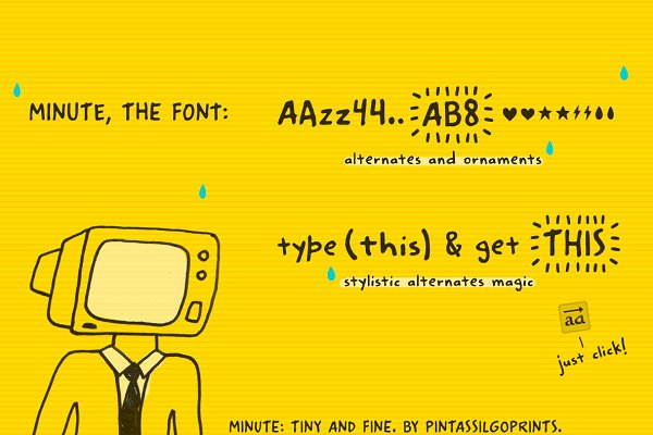 Fonts: PintassilgoPrints - Minute Intro 30% Off!