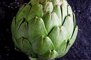 ARTICHOKE. Close up of artichoke