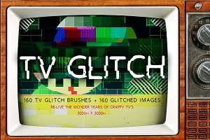TV Glitch Brushes + FREE image files