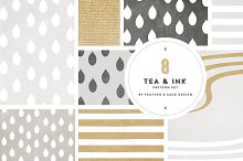 Tea & Ink Pattern Set
