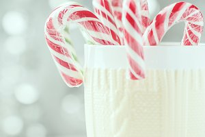 cup with Christmas candies