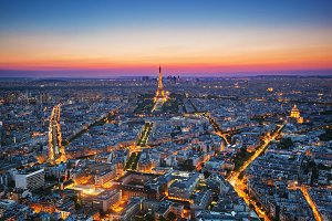 Paris - capital of France at sunset