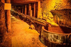 Underground corridor in a mine