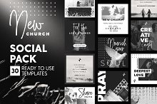 New Church - Social Pack by  in Social Media