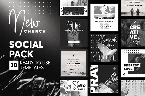 Social Media Templates: The Wedding Shop - New Church - Social Pack