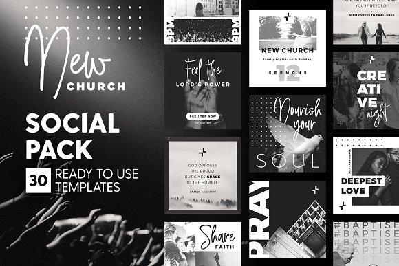 New Church - Social Pack