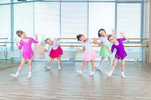 Children dancing in choreography