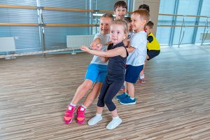 Children and recreation, group of