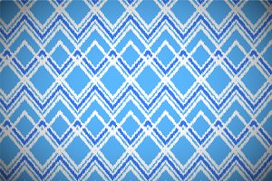 Blue and white ikat chevron pattern