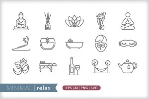 Minimal relax icons
