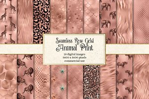 Rose Gold Safari Animal Skins