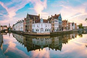 Canal Spiegelrei, Bruges, Belgium
