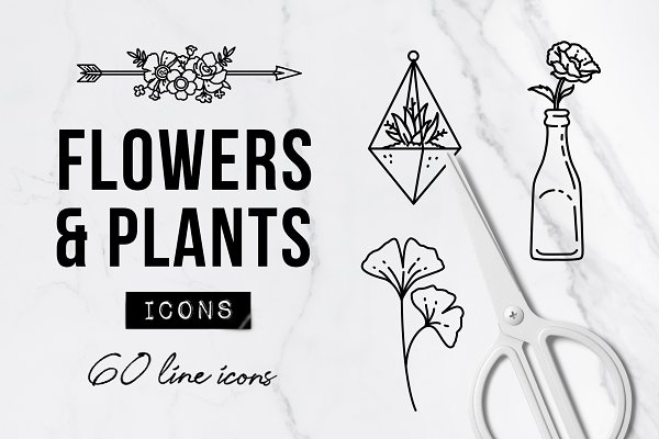 60 Plant & Floral Icons - Flower