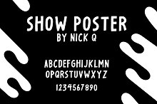 Show Poster Font