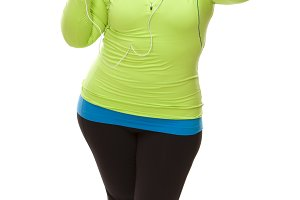 Hispanic Woman In Workout Clothes wi