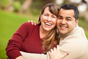 Attractive Mixed Race Couple Portrai