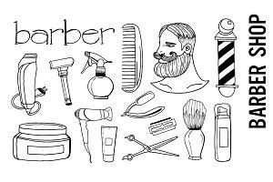 Barber Shop Doodle Clipart
