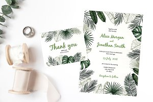 Tropical wedding collection