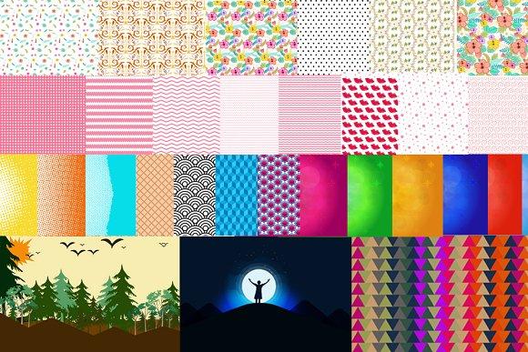 30 Backgrounds, Pattern & Landscape
