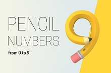 Set of pencil numbers.