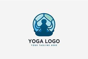 modern yoga logo template