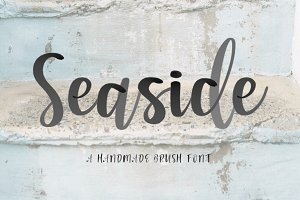NEW! Seaside Font + Watercolor SVG