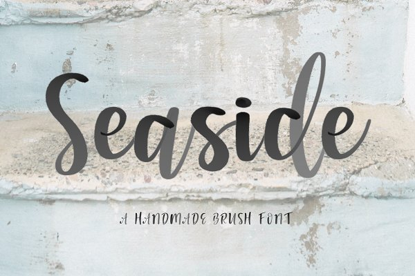Seaside Font + Watercolor SVG