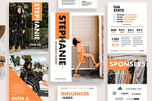 Influencer & Blogger Media Kit by  in Magazines