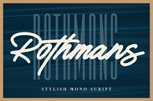 Rothmans - Font Duo (Free Version) by  in Script Fonts