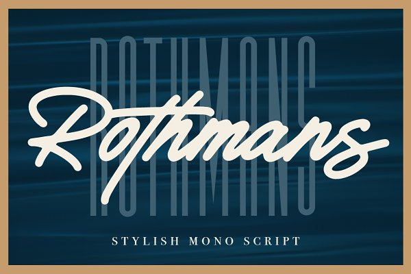 Script Fonts: Hustle Supply Co. - Rothmans - Font Duo (Free Version)