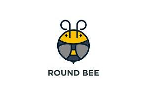 Round Bee Logo