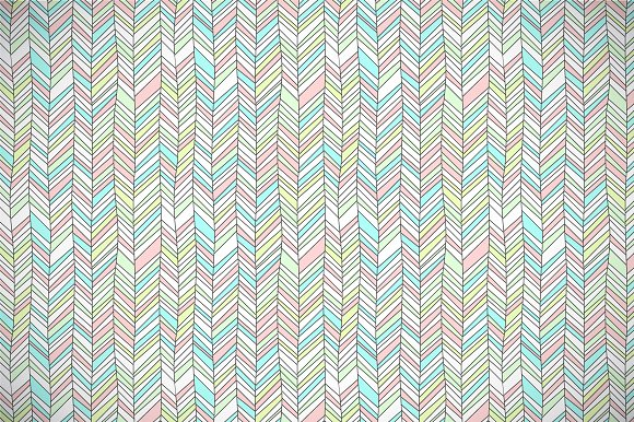 Pastel colored chevron pattern in Patterns
