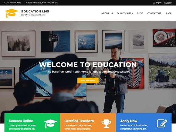 Education LMS - WordPress Theme