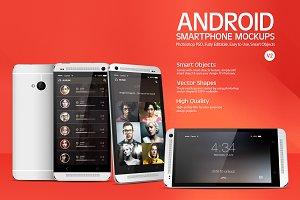 Android Smartphone Mockups V2