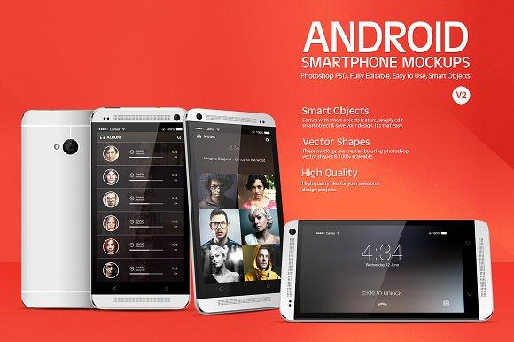 Download Android Smartphone Mockups V2