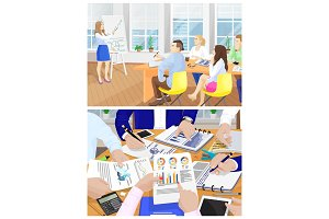 Business Meeting Collection Vector