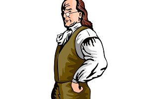 Benjamin Franklin Retro