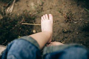 Small baby feet