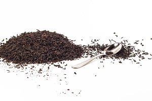 Back tea isolated