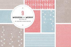 Modern + Merry Pattern Set