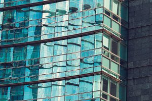Facade of a skyscraper
